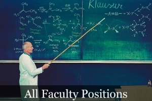 All Faculty Positions image showing a teacher in front of a chalkboard.